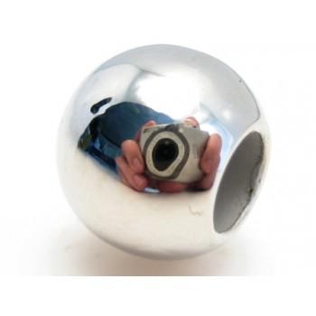 Sølv perler 10 / 5 mm - 3 stk