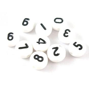Tal perler 7mm - 100 stk