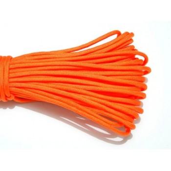 Faldskærmsline 4 mm neon orange - 1 m løbende