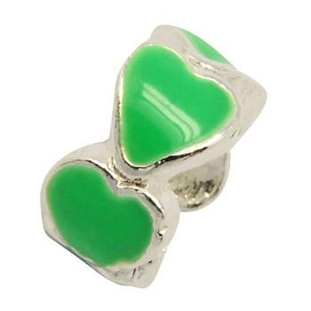 Hjerte led med grøn emalje