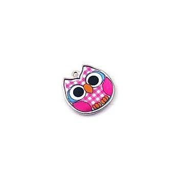 Pink ugle 19 mm
