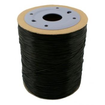 Stærk smykke elastik 0,8 mm sort - 6 m