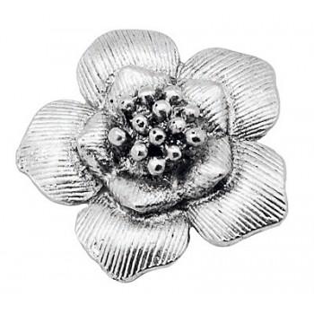 Blomster vedhæng / Knap  Sølv 40 mm