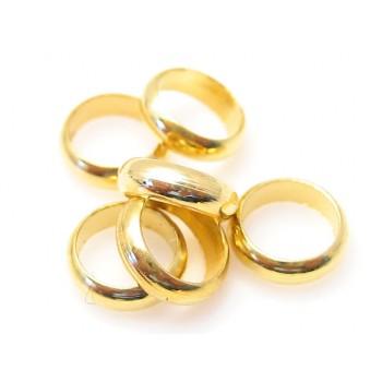 Lukket bred o-ring / båndring  4,5 indv hul - 10 stk