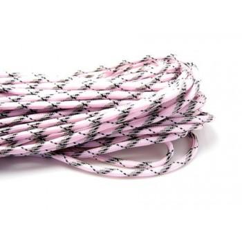 Faldskærmsline rosa-sort-lys army 1 m
