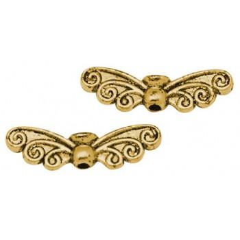 vinger guld belagt 22 mm - 6 stk