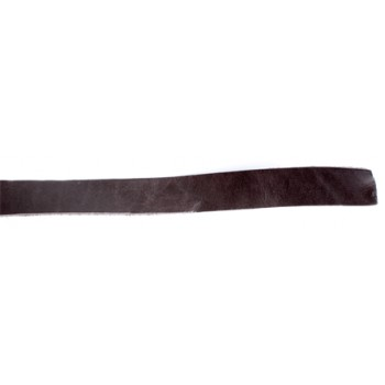 Læder bånd brun 25 mm bred x 25cm