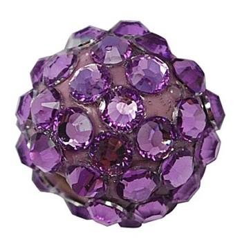 Lilla perle med stene 12 / 2,2 mm