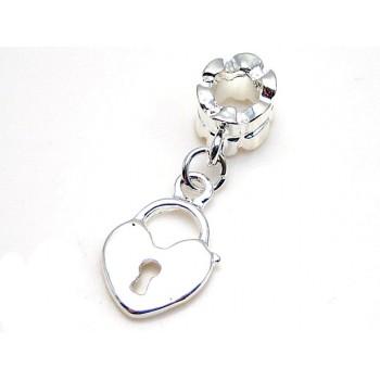 Hængelås sølv belagt 31 mm