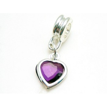 Hjerte sølv belagt 25 mm