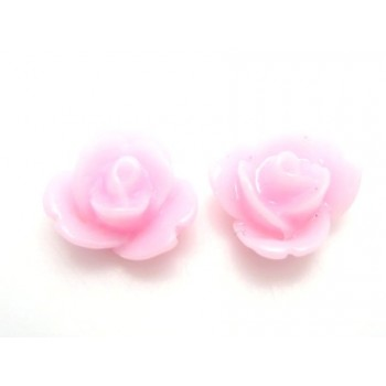 Resin rose mini rosa 9 mm - 2 stk