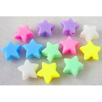 Stjerner i farvemix   6 mm - 50 STK