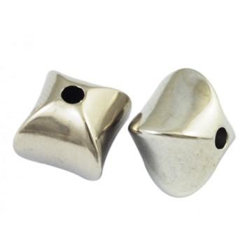 Sølv kube 11 mm - 10 stk