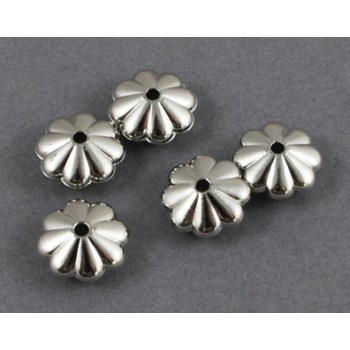 Lækre sølv perler med mønster 10 mm - 20 STK