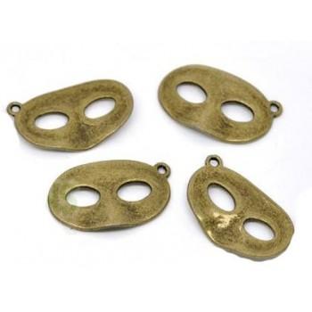 Maske antik kobber 28 mm