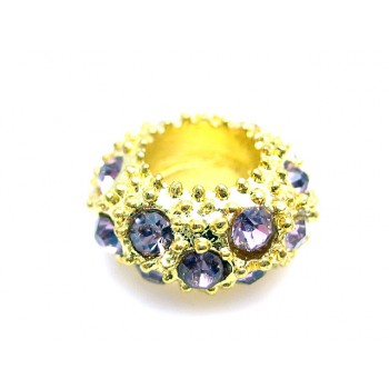 Guld led med stene lilla