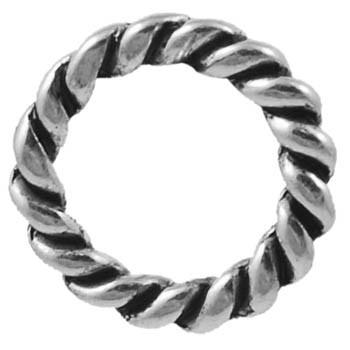 Snoet ring sølv 19 mm - 2 stk