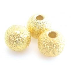 Guld stardust 4 mm - 12 stk