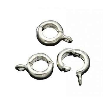 Klik lås til vedhæng 10 mm Sølvbelagt