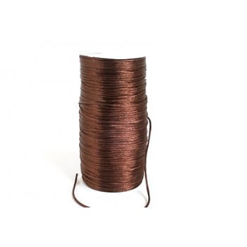 Satin snor 2mm - Brun - 10 m