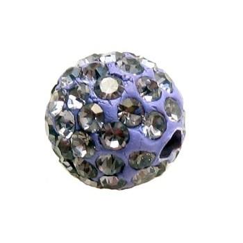 Rhinstens perle 8 mm - lilla - EKSKLUSIV