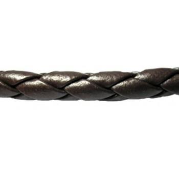 Bola imiteret Brun lækker 4 mm tyk pr. m SUPER BILLIGT