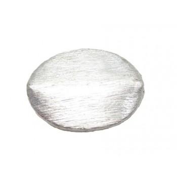 Børstet sølv perle på 17