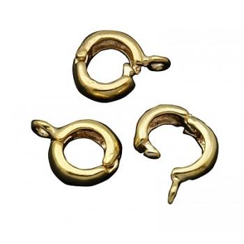 Smykkelås - Klik lås til vedhæng 10 mm Guldbelagt