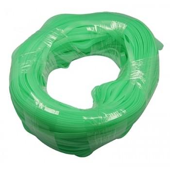 Flad gummi snøre grøn 8X2 mm  - 1m