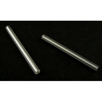 Lange sølv glas rør 34 x 1,8 mm - 25 G