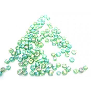 Seed bead grøn metal 3 / 0,5 - 25 G