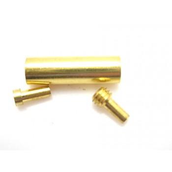 Skrue lås guld belagt til 1 mm  - 2 sæt
