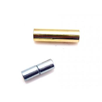 Magnet  lås guld belagt til 1 mm  - 2 sæt