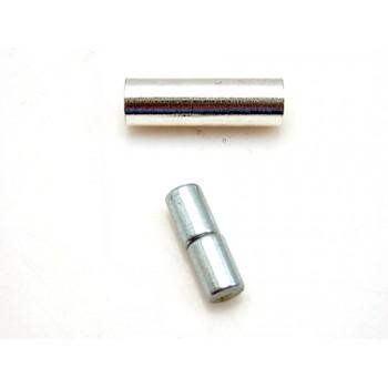 Magnet  lås sølv belagt til 1 mm - 2 sæt