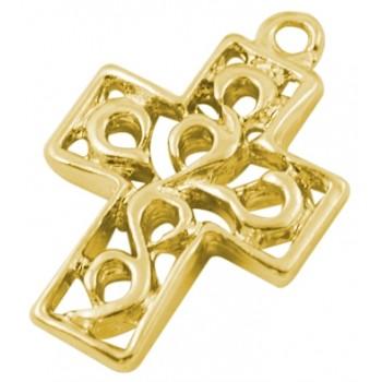 Guld kors 18 mm - 2 STK