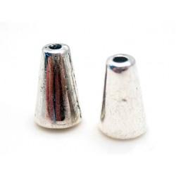 Konisk tibet perle 10 / 2 mm - 2 stk