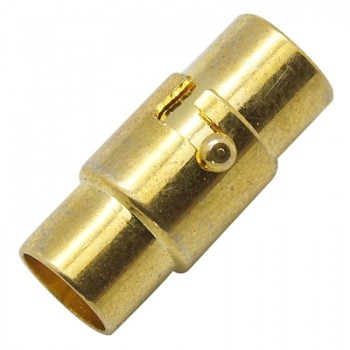 Bajonet magnet lås m/enderør guld bel. 4 mm indv hul