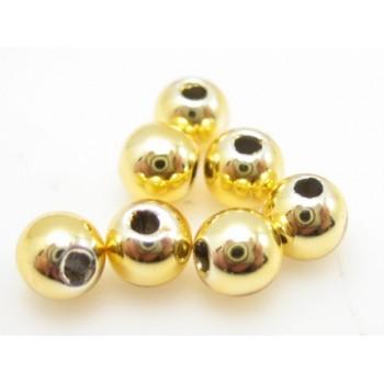 Voks perle 4 mm - guld - 40 stk