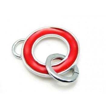 Vedhæng til vedhæng 35 mm + Rød emalje