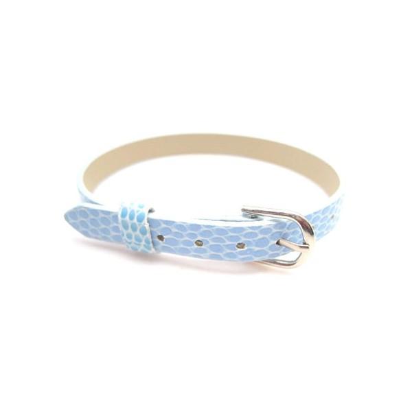 Armbånd til slide charms 22 cm - LYS BLÅ
