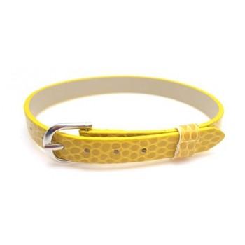 Armbånd til slide charms 22 cm - GUL