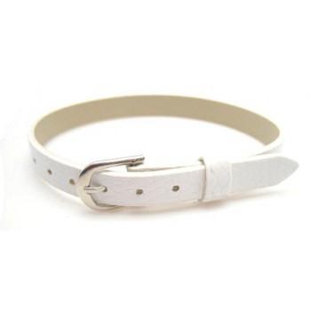 Armbånd til slide charms 22 cm - HVID