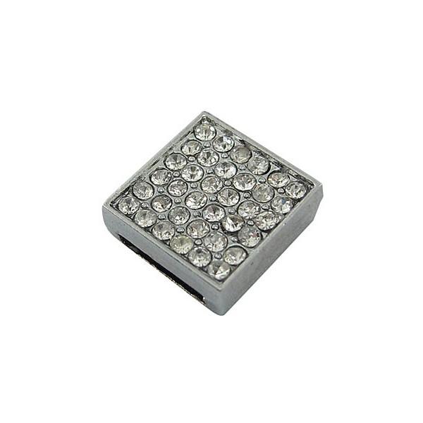 Slide charms med masser af sten 12 mm