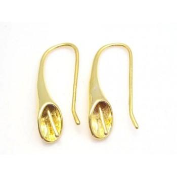 Trompet t/anboret perle guld - 1PAR