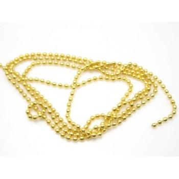 Kuglekæde guld 2,5 mm - 1M