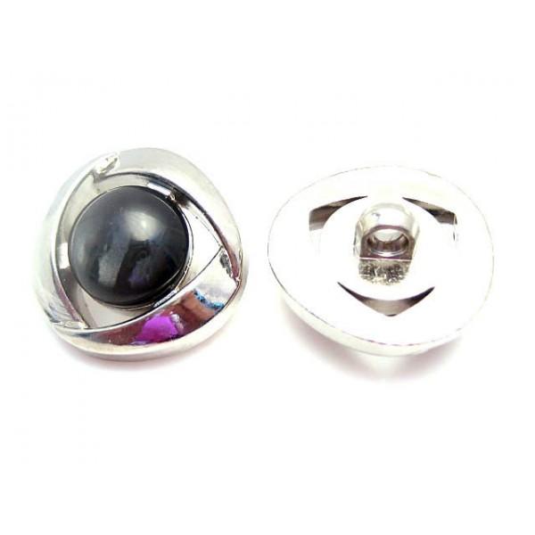 Akryl knap 30 mm - sort
