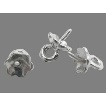 Øsken til anboret perle 0,8 mm - sølv - 4 STK