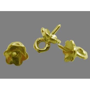 Øsken til anboret perle 0,8 mm - guld - 4 STK