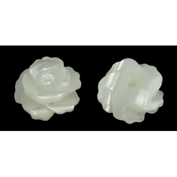 Anboret shell rose 8 mm - 2 STK