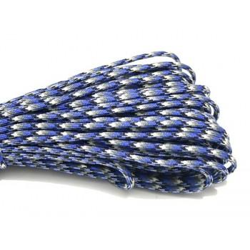 Faldskærmsline Blå / Grå 1 m
